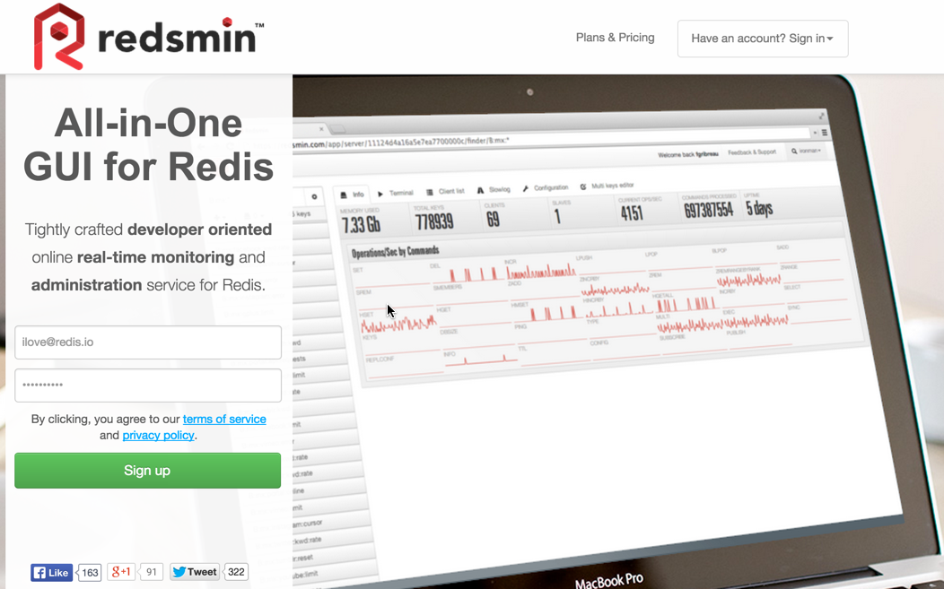 Redsmin-Dashboard